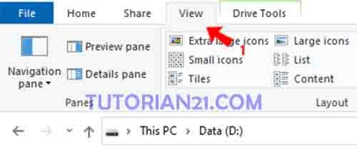 cara menampilkan folder tersembunyi di laptop