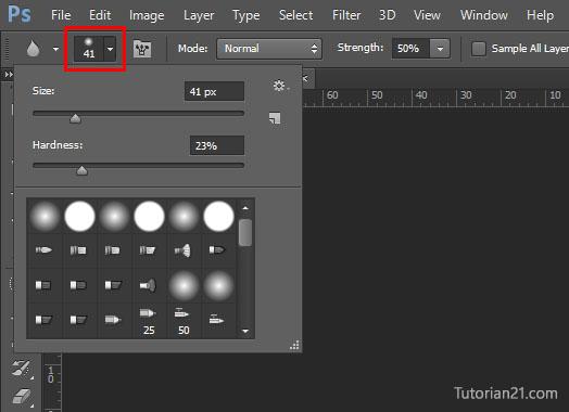 cara menggunakan blur tool photoshop