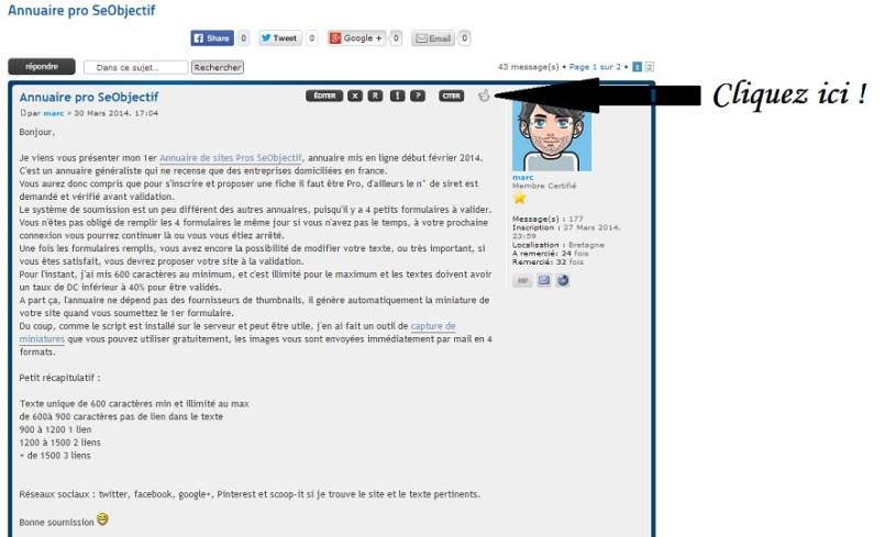Comment remercier sur le forum RankSeo.fr