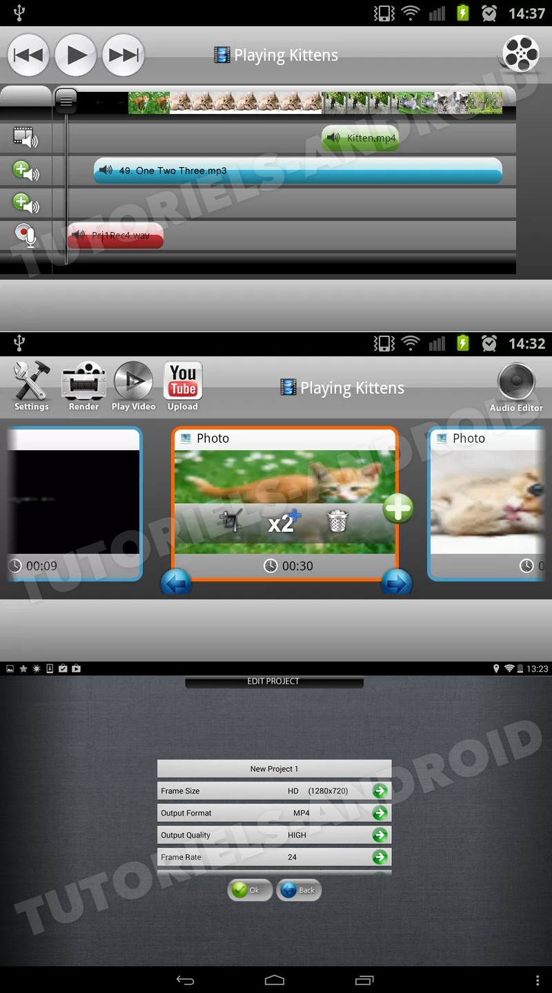 Captures : Application AndroMeda Video Editor