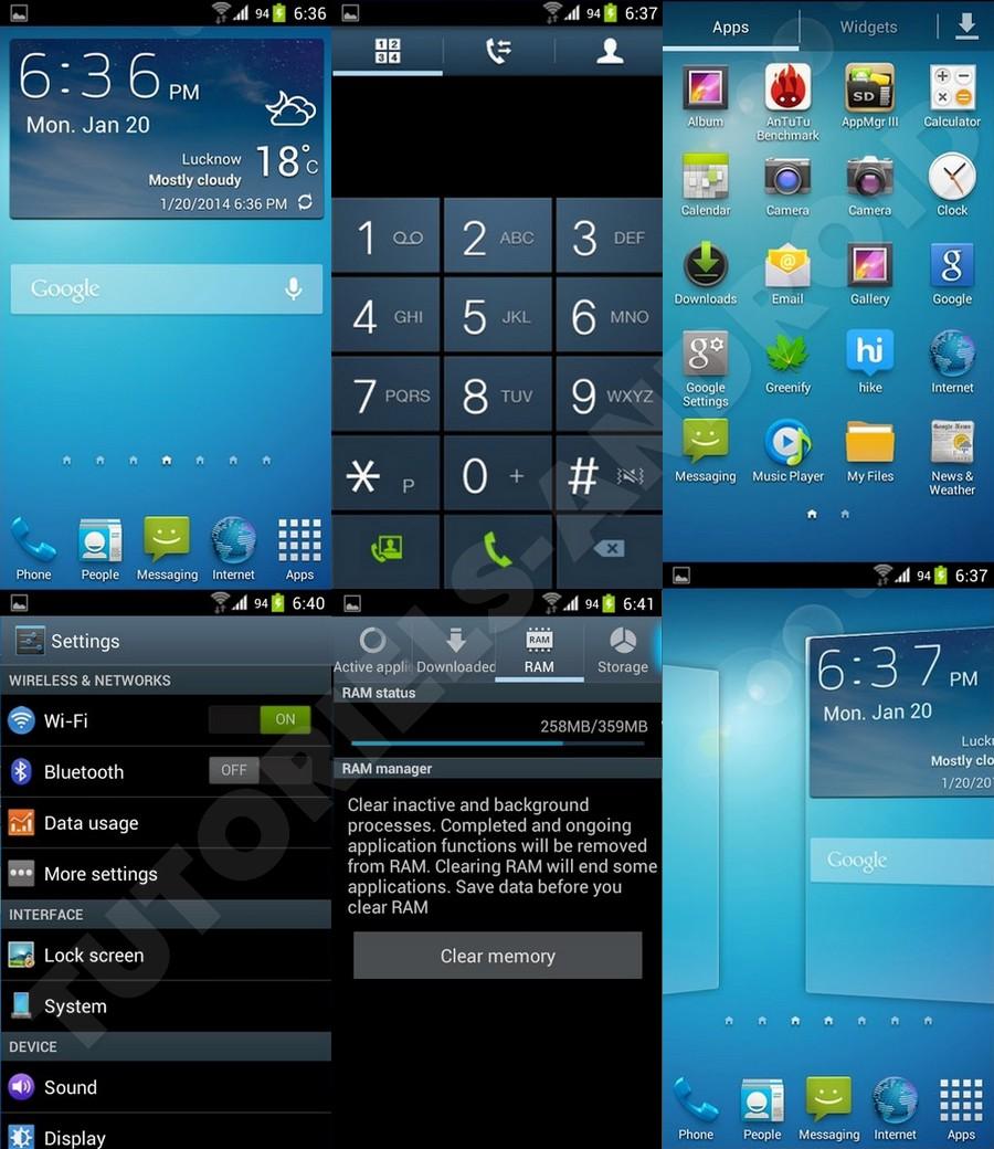 TouchWiz Nature UX v1.2 - GALAXY S2
