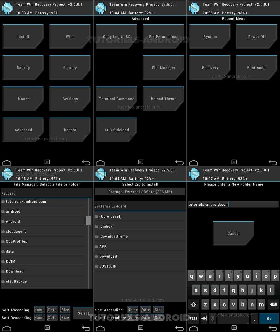 Screenshots : TWRP recovery - GALAXY S3