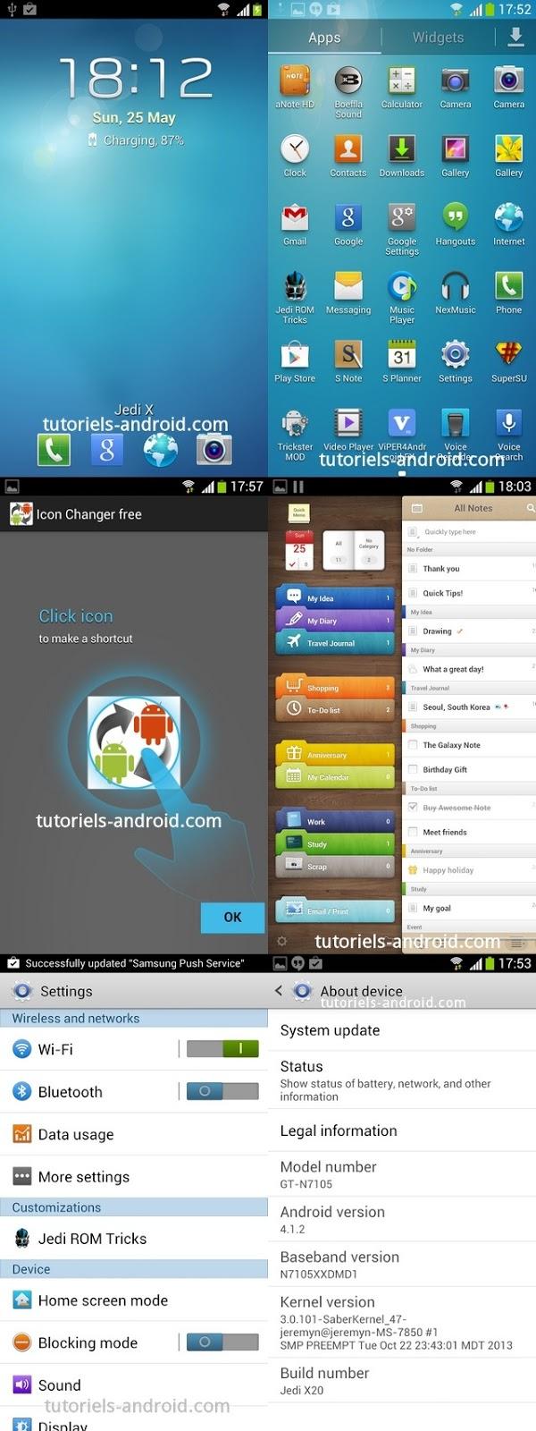 ROM CUSTOM JediX20 - Galaxy Note 2 N7105