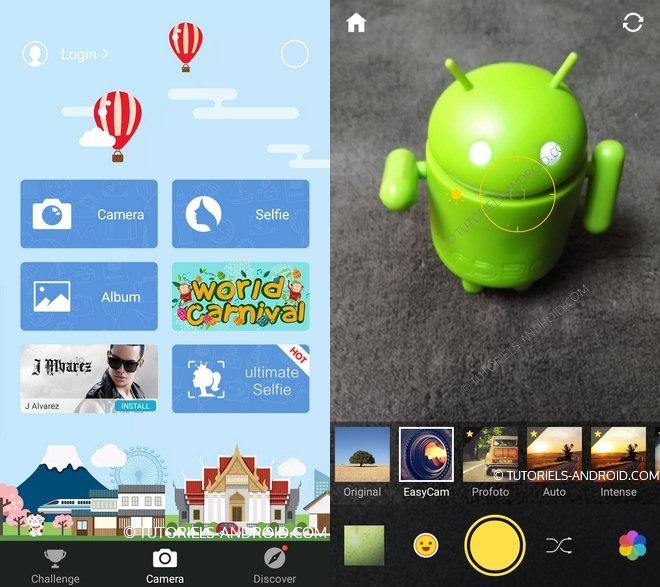 Capture d'écran : Camera 360 Android