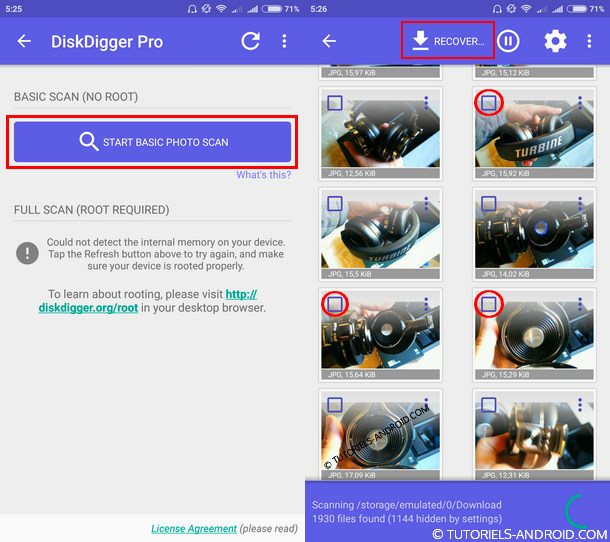 Diskdigger images recovery