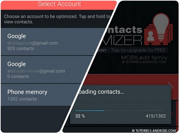 Scanner les contacts dupliqués