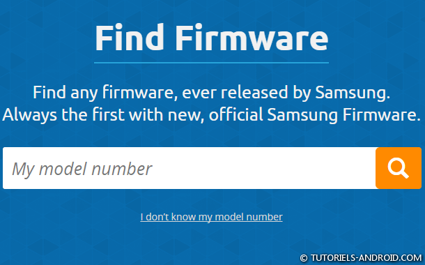 Chercher un Firmware sur SAMMOBILE