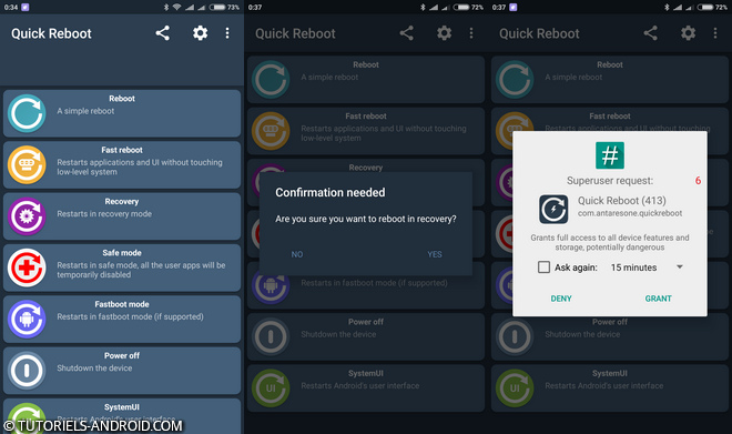 App Android : Quick Reboot
