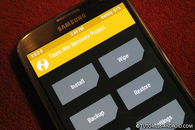 Application Android : TWRP Manager