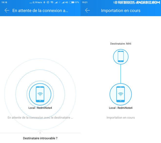 Transférer les données entre deux mobiles Android
