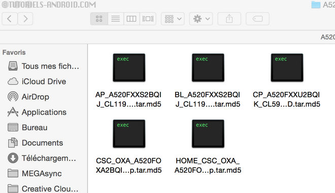 Fichiers ROM A520FXXS2BQIJ - GALAXY A5 (2017)