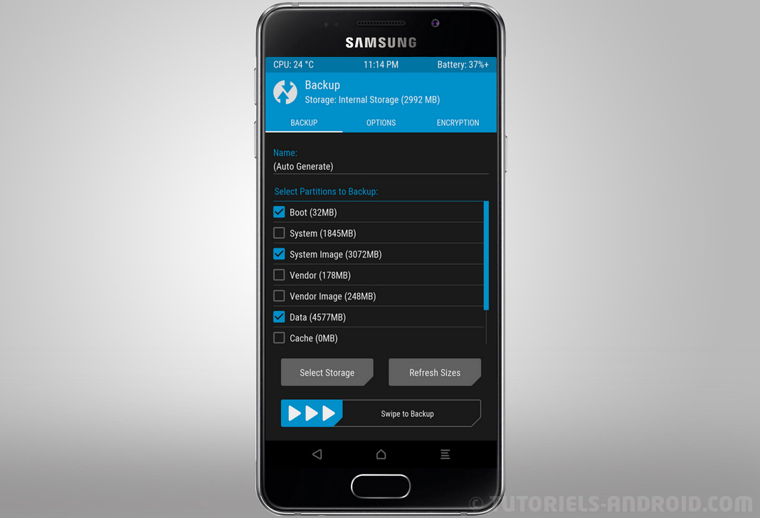 TWRP recovery pour GALAXY A3