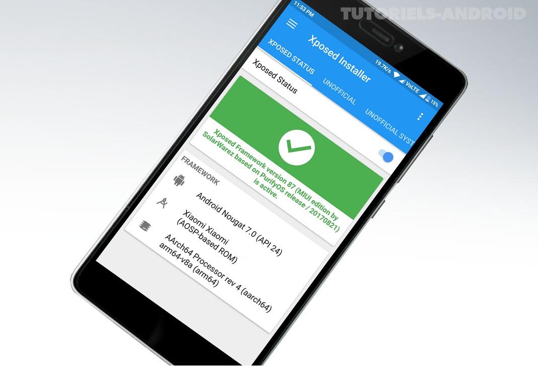 Installer Framework Xposed sur son Android
