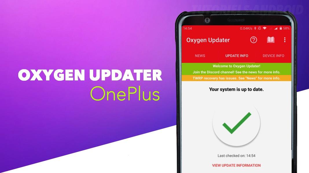 Oxygen Updater pour mettre à jour (OTA) son OnePlus