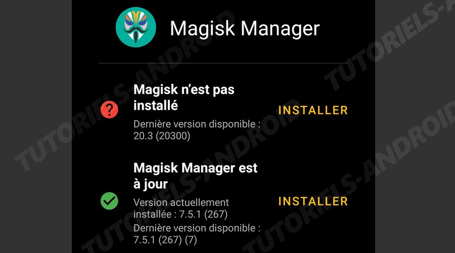 Installer Magisk Mi A3