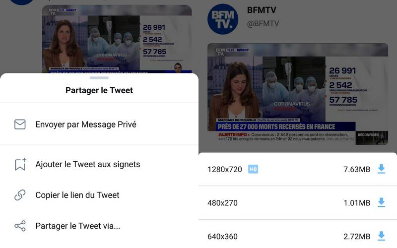 Télécharger Vidéos Twitter Android