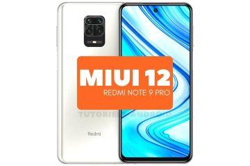 MIUI 12 Android 11 Redmi Note 9 Pro