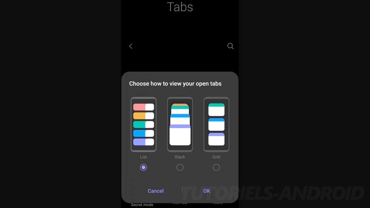 Tabs - Samsung UI 3.0
