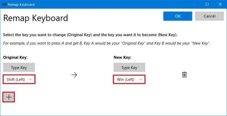 Windows 10 remap keyboard key