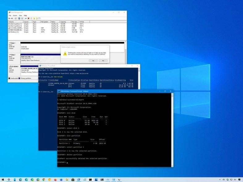 Windows 10 delete drive partition
