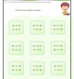 2nd Grade Common Core Math Worksheets [ 1123 x 794 Pixel ]