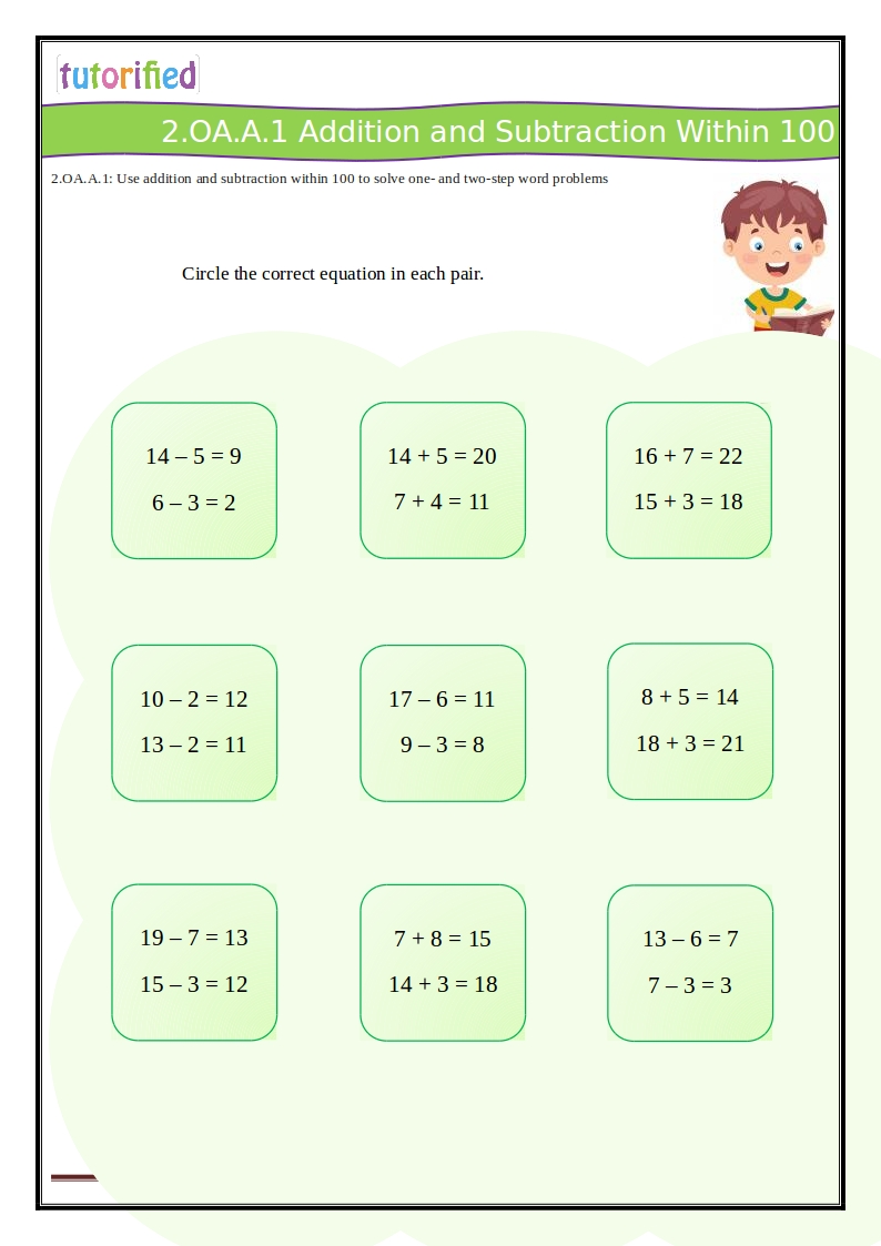 hight resolution of 2nd Grade Common Core Math Worksheets
