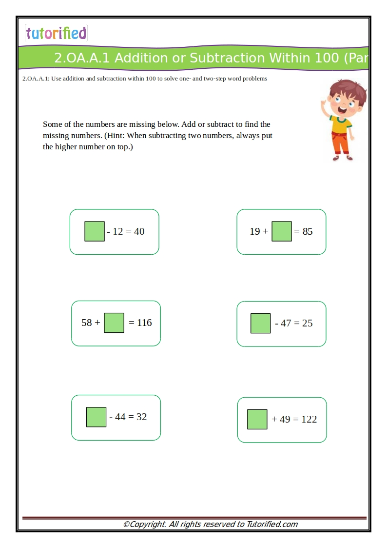 medium resolution of 2nd Grade Common Core Math Worksheets