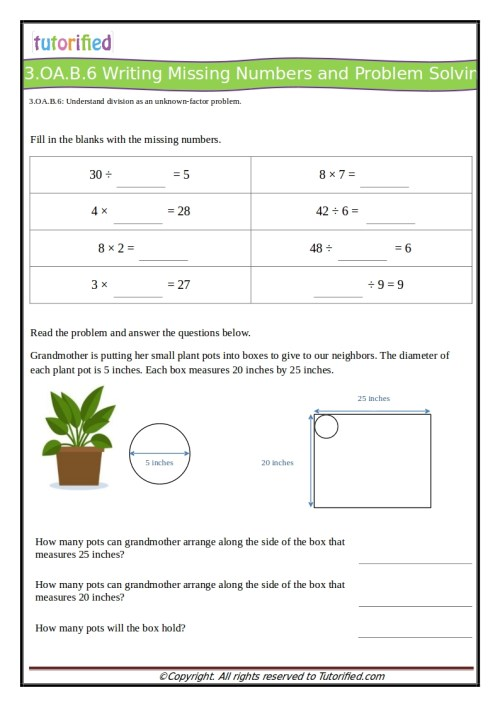 small resolution of 3rd Grade Common Core Math Worksheets