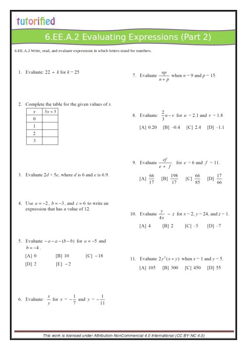 small resolution of 6th Grade Common Core Math Worksheets