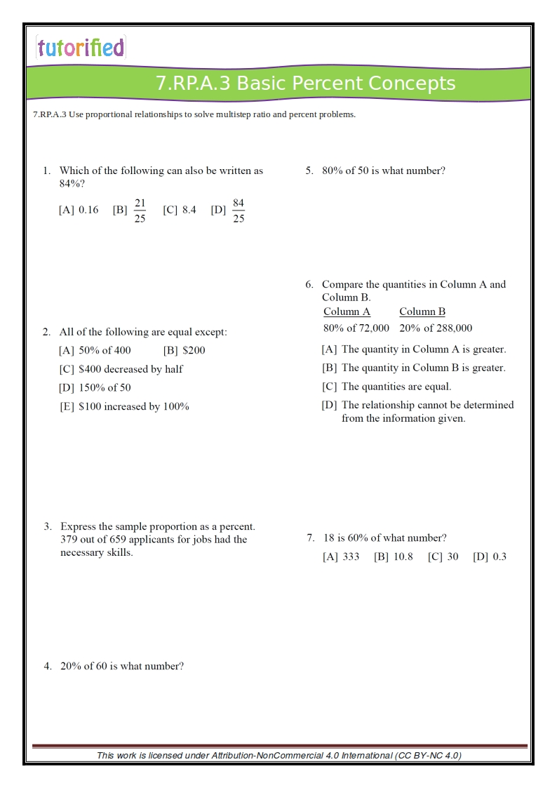 medium resolution of 7th Grade Common Core Math Worksheets
