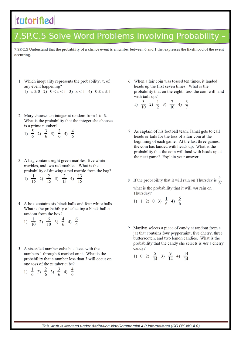 medium resolution of 7th Grade Common Core Math Worksheets