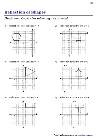 Reflections Worksheet Answers : reflections, worksheet, answers, Reflection, Worksheets