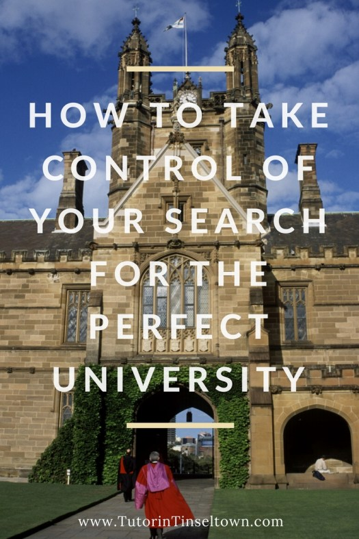 How to take control of your search for the perfect university