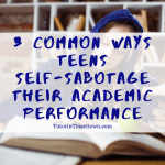 As a parent, you know your child's potential for academic performance pretty well. It is disappointing when a young person does not perform at the level he or she could. There are many reasons for struggling in school. Poor grades can be a reflection of stress, boredom or emotional turmoil. Often, teens self-sabotage when it comes to academic study, and it may not always be on purpose.