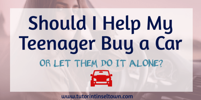 """Should I help my teenager buy a car?"" Getting a car means freedom for most teens. A first car allows them to work and to drive themselves to school, which also frees up your time as a parent. However, many parents wonder if they should help their teen buy a car or not. Here's a look at how some parents make this tough decision."