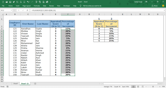 Example of VLOOKUP Formula Solution Step no. 7 1 1 - VLOOKUP in Excel - Explanation with example