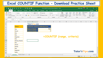 Excel COUNTIF Function feature image - Microsoft Excel Formulas - Explained with Examples
