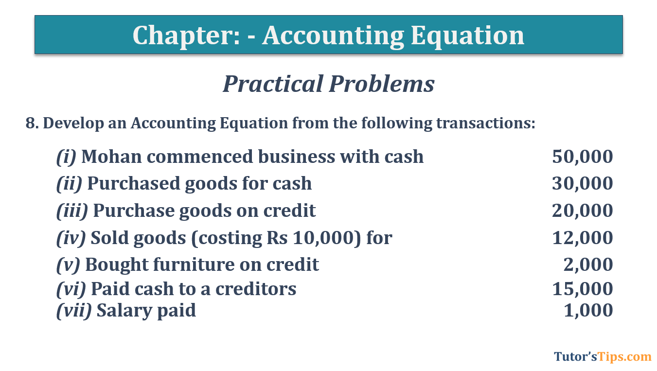 Question No.8 - Chapter No.5- T.S. Grewal +1 Book 2019