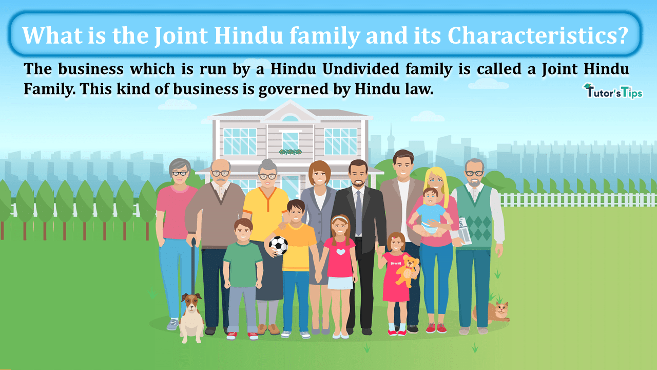 What is the Joint Hindu family and its Characteristics min - Business Studies
