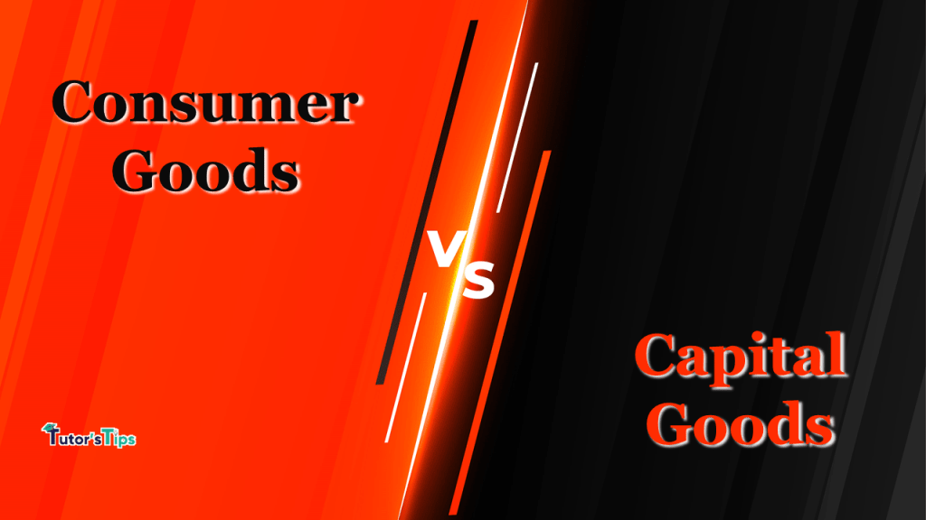 Difference between Consumer Goods and Capital Goods-min