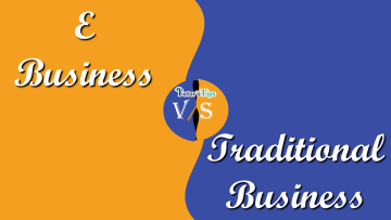 Difference between E business and Traditional business min - Differences - Business Studies