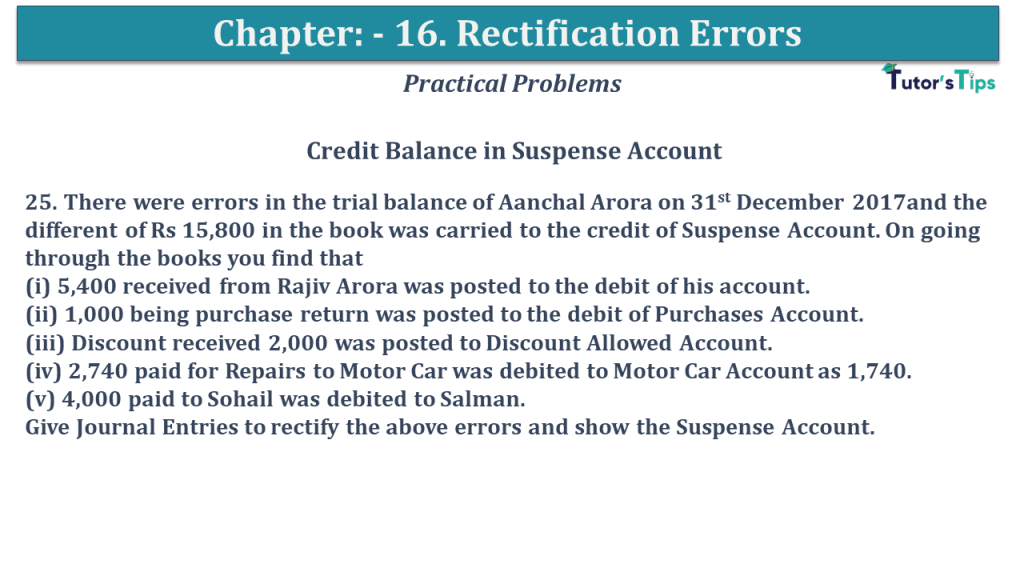 Question No 25 Chapter No 16