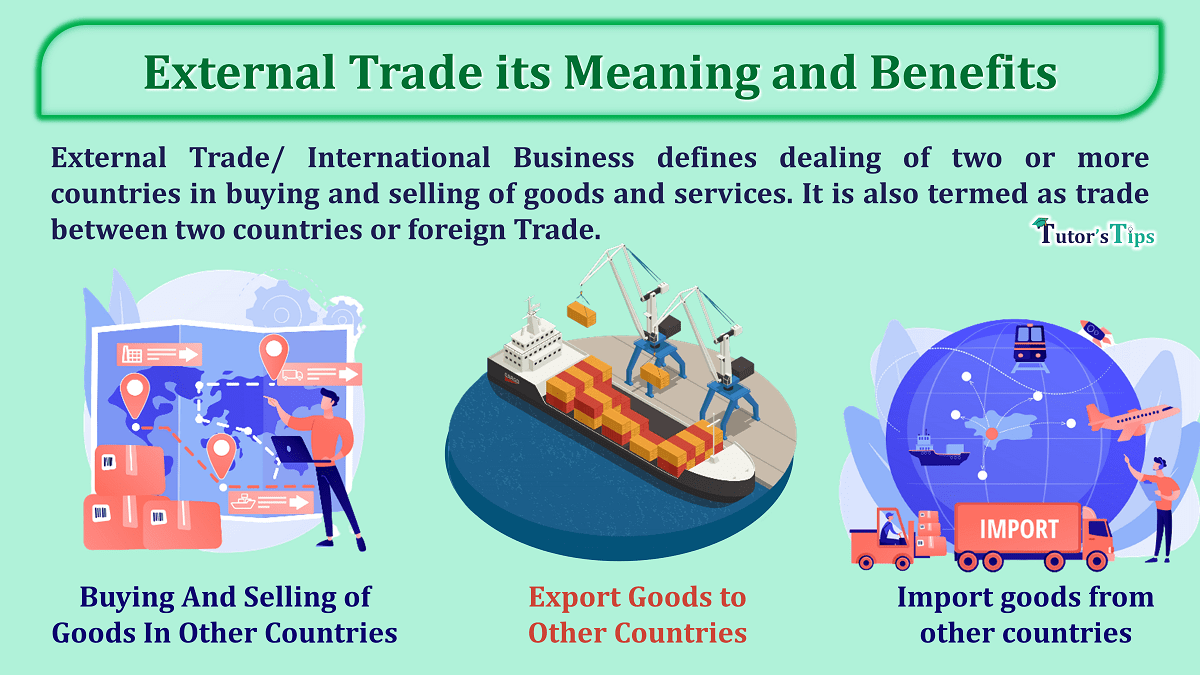 External Trade its Meaning and Benefits min - Business Studies