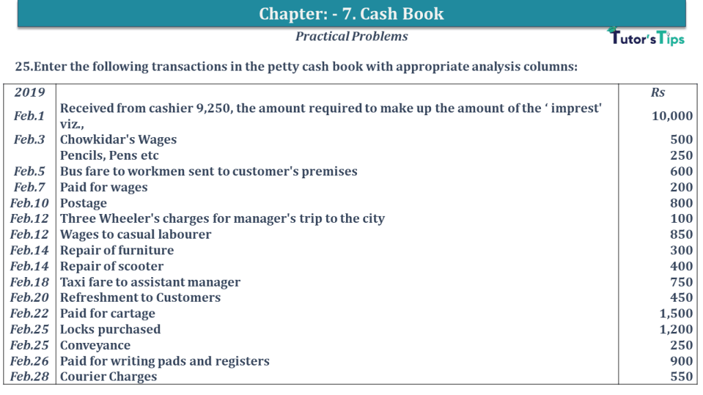 Question No 25 Chapter No 7