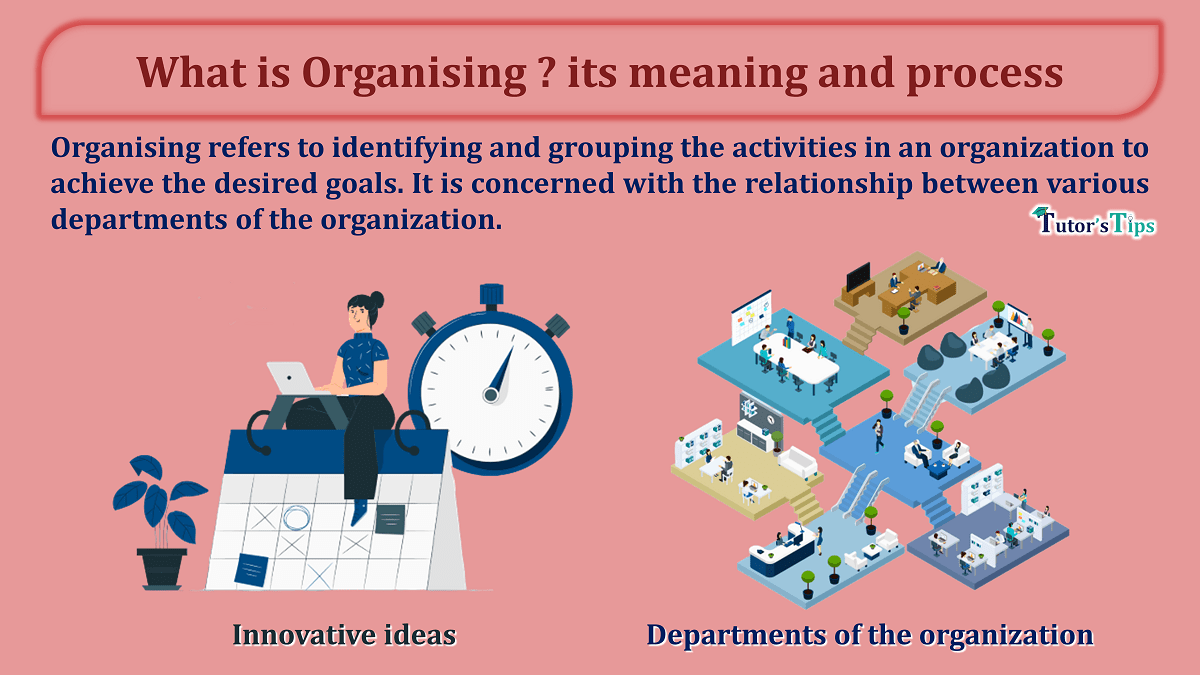 What is Organising its meaning and process min - Business Studies