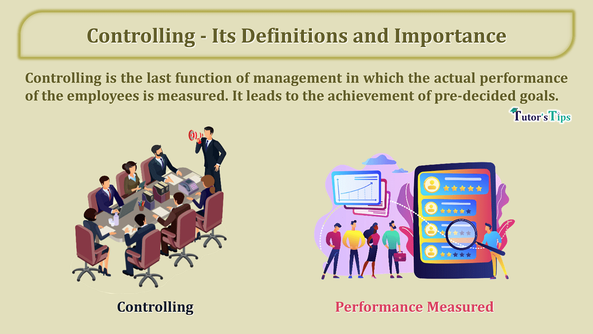 Controlling Its Definitions and Importance min - Business Studies