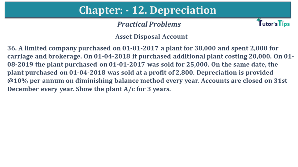 Question No 36 Chapter No 12