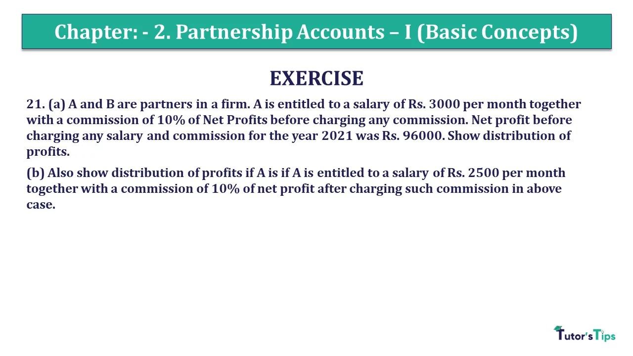 Question 21 Chapter 2 - Unimax Class 12 Part 1 - 2021
