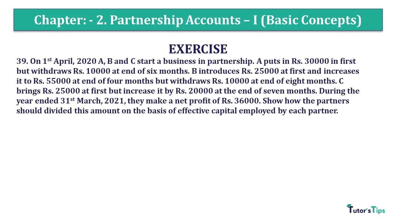 Question 39 Chapter 2 - Unimax Class 12 Part 1 - 2021