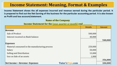 Income Statement - Feature Image